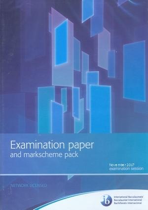 IB Examination paper and markscheme pack November 2017 CD ROM, IBO
